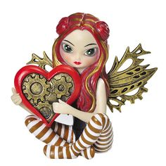 "Collection Line: Strangeling Fairies Artist: Jasmine Becket Griffith Size: 4 3/4"" H Material: Hand Painted Resin"