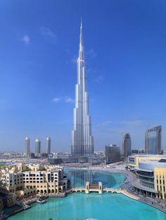 Burj Khalifa in Dubai -- the tallest building in the world.
