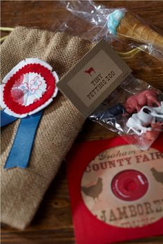 "County Fair-themed favors: ""tiny petting zoo"" Would be a fun bday party theme."