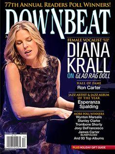 DownBeat Magazine cover with Diana Krall, December 2012 www.downbeat.com
