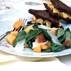 Melon, Serrano Ham, and Arugula Salad from Cooking Light