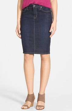 CJ+by+Cookie+Johnson+'Passage'+Denim+Pencil+Skirt+available+at+#Nordstrom