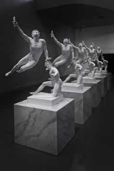 """Xu Zhen, """"Eternity – The Soldier of Marathon Announcing Victory, A Wounded Galatian"""", 2014"""