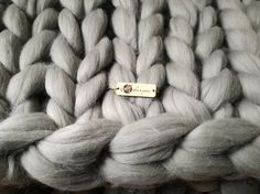 SALE Express shipping READY to SHIP Big chunky knit blanket
