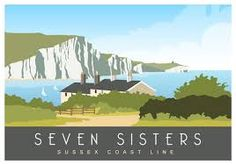 Pictures of Kent Towns and Villages. Also Dorset, Sussex, Norfolk, Suffolk and London. All images in this railway/travel poster series are displayed on this page. Art Nouveau Poster, Art Deco Posters, Retro Posters, British Travel, Tourism Poster, Sisters Art, Railway Posters, Travel Illustration, Landscape Pictures