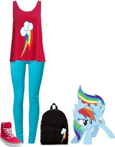 """""""My Little Pony: Rainbow Dash"""" by officialbalehead ❤ liked on Polyvore"""