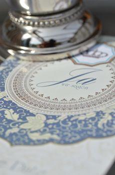 """1001 Nacht – orientalisch inspirierte Hochzeitskarte aus unserer Serie """"Bhanuja und Khaled"""" - carinokarten.de"""