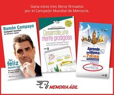 Entra en este concurso para ganar estos tres libros firmados por Ramón Campayo, campeón mundial de memoria.