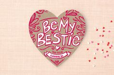 Be My Bestie Doodles Classroom Valentine's Day Cards by Loree Mayer at minted.com