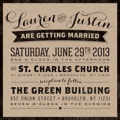 Vintage Urban Kraft Wedding Invitation Suite - August Park Creative