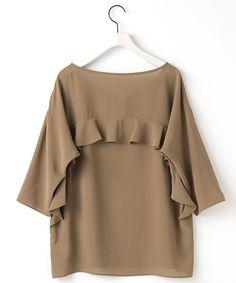 PeボイルV/NフリルBL(シャツ・ブラウス) | ELFORBR/エルフォーブル のファッション通販サイト - セレクトスクエア