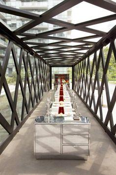 Scarpetta Dining Pavilion, Toronto - fine dining outdoors.