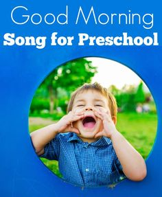 Start your circle time off right with this great good morning song for preschool.