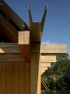 Open ended gutter detail The Fishing Hut by Niall McLaughlin Architects