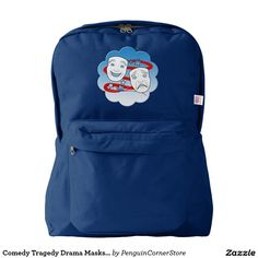 Comedy Tragedy Drama Masks American Theater American Apparel™ Backpack