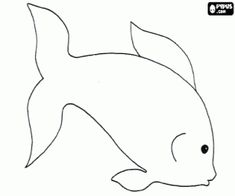 White fish coloring page