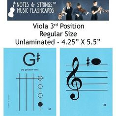 """Notes & Strings Viola 3rd Position 4.25""""X5.5"""" Regular Size Flashcards by Notes & Strings. $12.98. The mission of Notes & Strings is excellence in providing quality music education products to music students around the world. Notes & Strings Music Flashcards are very popular with music teachers, music students, and music stores. These flashcards help make the learning of music easy and fun. Deborah Spiegel, a Suzuki violin teacher, designed these note reading and fingerin..."""