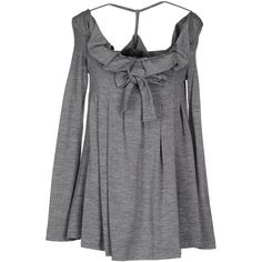 Laviniaturra T-shirt ($170) ❤ liked on Polyvore featuring tops, t-shirts, grey, long sleeve tops, long sleeve tee, longsleeve t shirts, grey long sleeve top and wide neck t shirts