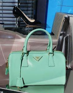 Prada purse to match my mint Miu Miu's Purses - Women's Handbags Cheap Designer Handbags, Cheap Handbags, Prada Handbags, Purses And Handbags, Replica Handbags, Coach Handbags, Fashion Handbags, Prada Purses, Prada Bag