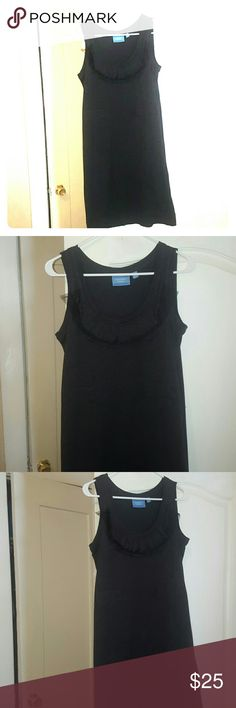 Simply vera, dark charcoal gray dress Beautiful dress, size XS, can fit as a small Simply Vera Vera Wang Dresses Midi