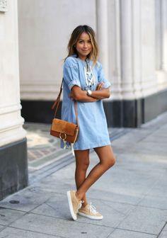 Vestido azul …