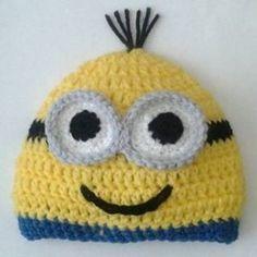 Minion Beanie hat Free Crochet Pattern   Sticks, String, and Caffeine