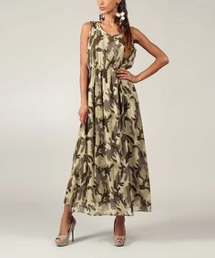 Take a look at this Green Military Sleeveless Maxi by Kushi by Jasko on #zulily today! I need this, no?