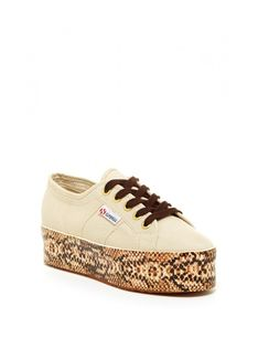 Superga Viper Foxing Lace-Up Platform Sneaker - on #sale 62% off @ #NordstromRack  #Superga #italian #coolonsale.com