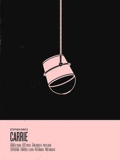 Stephen King Minimalist Movie Poster Art by Nicholas Tassone - Carrie