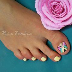 Wow Nails, Pretty Toe Nails, Cute Toe Nails, Pedicure Nail Art, Toe Nail Art, Cute Pedicures, Summer Toe Nails, Toe Nail Designs, Pedicure Designs
