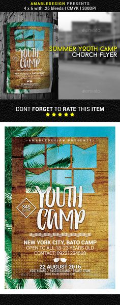 Youth Camp Mini Flyer Template Youth camp, Flyer template and Youth - motocross sponsorship resume