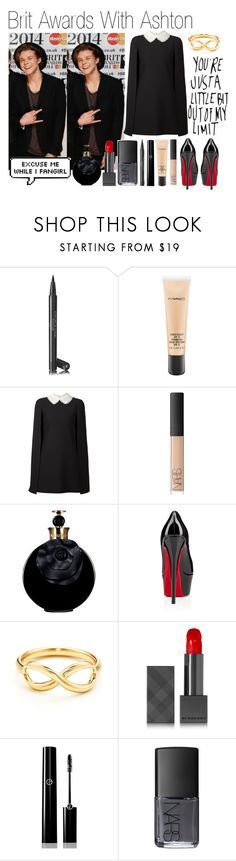 """""""Brit Awards With Ashton (Requested)"""" by one-direction-outfitsxxx ❤ liked on Polyvore featuring Chanel, MAC Cosmetics, Valentino, NARS Cosmetics, Christian Louboutin, Burberry and Giorgio Armani"""