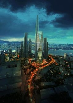 Diagonal Tower - Seoul, South Korea. I will be living 20miles from here in less than 2 months!