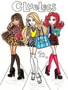 vampire-hippie:  Clueless Illustration By Hayden Williams.  Clueless 17th Anniversary today!!!