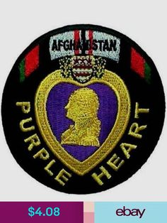 Embroidered & Applique Patches Collectibles Party Logo, Biker Patches, Afghanistan, Applique, Motorcycle, Purple, Logos, Heart, Ebay