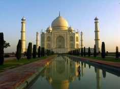 Taj Mahal, India - Click image to find more Architecture Pinterest pins