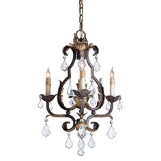 Tuscan Small Chandelier by Currey and Company