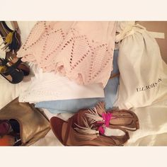 Pretty stoked to try out all this fresh new gear in LA #eyelet #chambray #tassels #ullajohnson #spring15