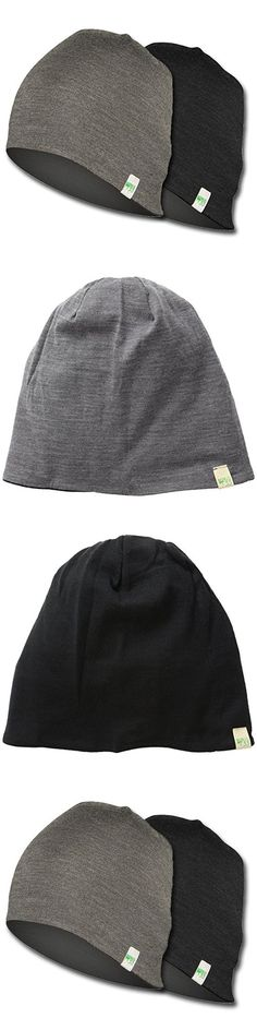 Minus33 Merino Wool Reversible Shade Beanie, Black/Charcoal Grey, One Size