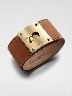 Fendi Leather Cuff Bracelet