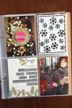 Merry & Bright Layout by Heather Nichols for Papertrey Ink (December 2014)