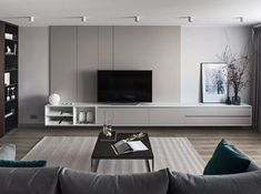 Clean Lines on Behance New Living Room, Living Room Interior, Living Room Decor, Living Room Tv Unit Designs, Minimalist Interior, House Rooms, Tv Rooms, Game Rooms, Apartment Interior