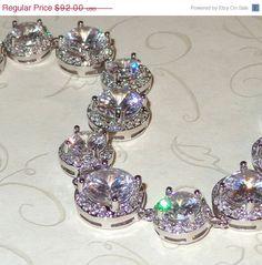 ON SALE Silver Cubic Zirconia Bracelet Bridal by livelovebead, $82.80