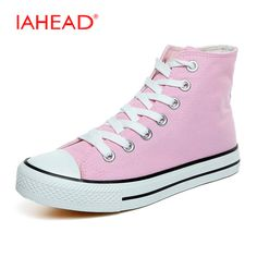b992493a735 IAHEAD Women s Low Top Trainers 10 Color Full Size Canvas Shoes Women  Vulcanized Shoes Flat
