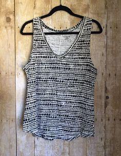 Merona Women's Black And White Polka Dot Tank Top, Size XL  | eBay