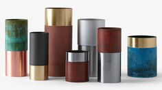 True Colours vases made from half-oxidised half-polished metal