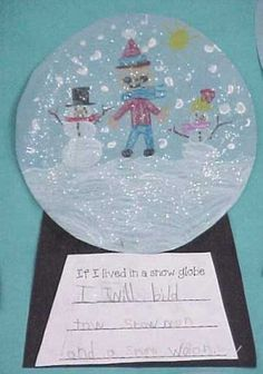If I lived in a snow globe... Great art/writing project by kristin.small