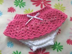 CROCHET PATTERN Diaper Cover Lacy Skirt baby by EasyCreations