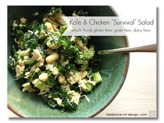 kale and chicken