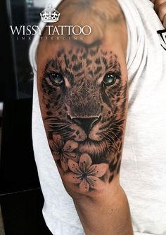 Leopard tattoo by manulopez WISSY TATTOO #AnimalTattoos